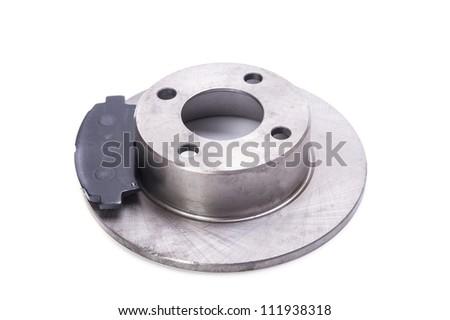 Brake disk with brake pads - stock photo