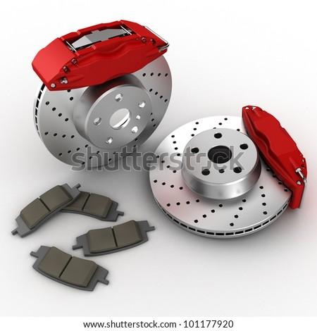 brake system - stock photo