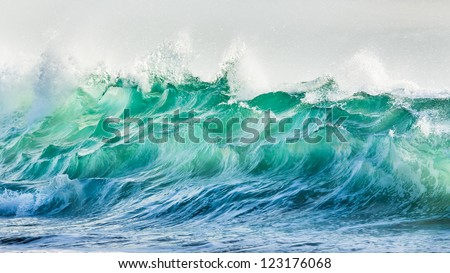 braking waves - stock photo