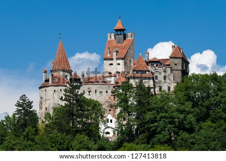 "Bran Castle, commonly known as ""Dracula's Castle"", in Romania"