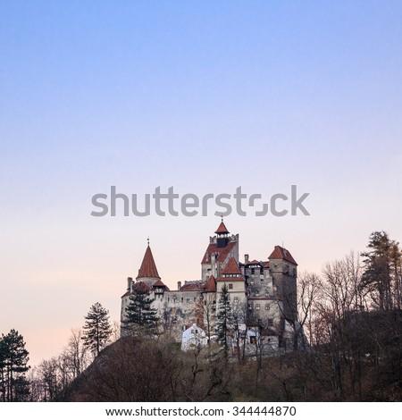 Bran castle in Transylvania, Romania. Dracula's castle - stock photo