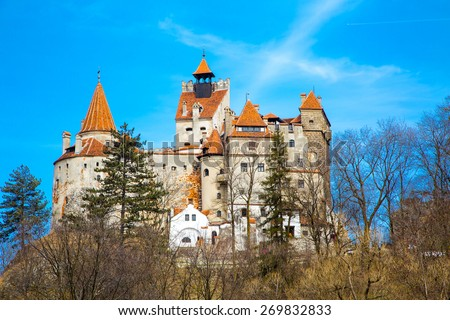 Bran Castle, Transylvania, Romania, known for the story of Dracula - Vlad Tepes, Vlad the Impaler