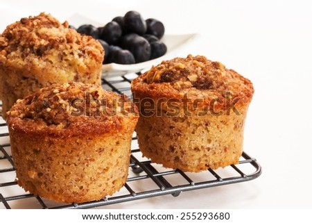 Bran muffins selective focus - stock photo