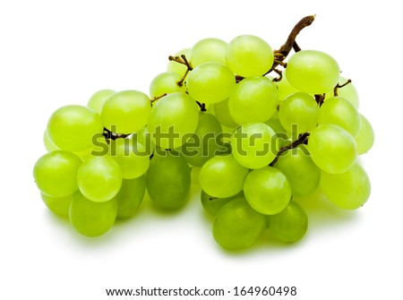 Branch of grapes isolated on white background