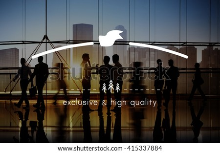 Brand Branding High Quality Exclusive Concept - stock photo