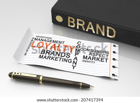 Brand loyalty as a business concept - stock photo
