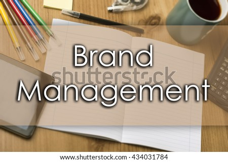 Brand Management - business concept with text - horizontal image