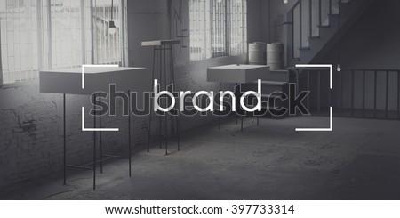 Brand Marketing Business Trademark Value Concept - stock photo