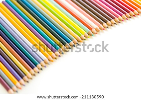 Brand new color pencils right out of the box for school supplies.