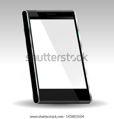 brand new future smartphone 6 release of all best selling top brand, perspective �·D illustration - stock photo