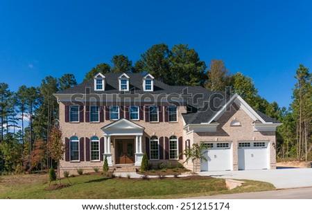 Brand new house - stock photo