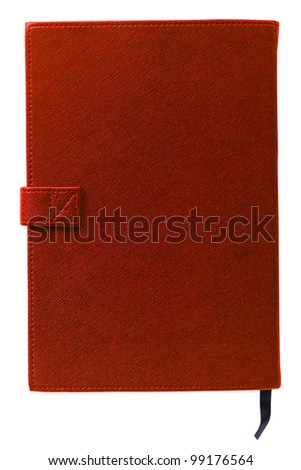 Brand new Red hardcover book with blank cover - insert your own design - stock photo