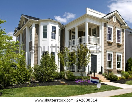 Brand New Two-Story Luxury Home In Nice Area For Sale - stock photo