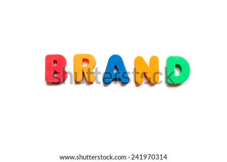 brand word in white background - stock photo