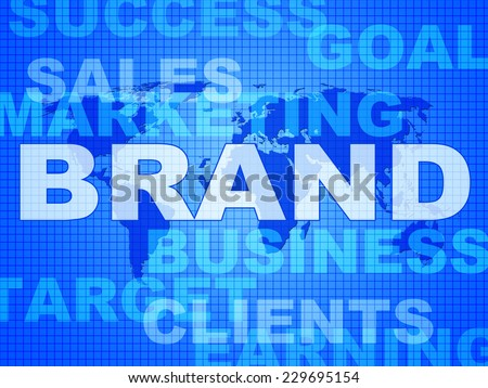 Brand Words Representing Company Identity And Corporate