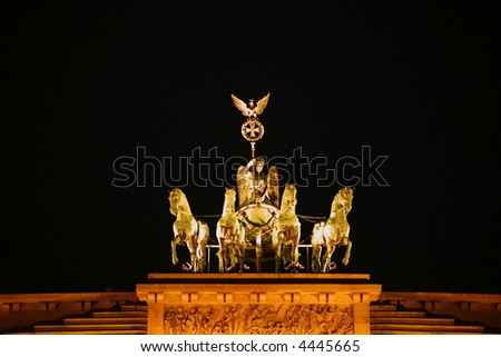 brandenburg gate - stock photo