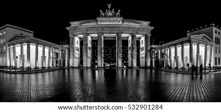 Brandenburg Gate. Berlin. Germany.
