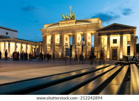 Brandenburg Gate (Brandenburger Tor) in Berlin - stock photo