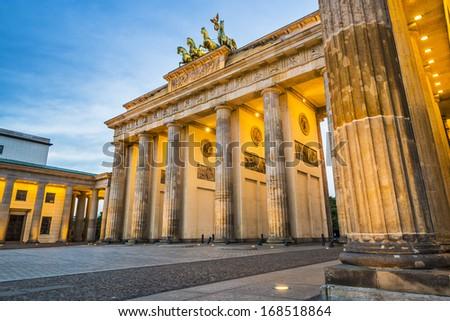 Brandenburg Gate in Berlin, Germany. - stock photo