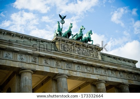 Brandenburg Gate in Berlin - Germany - stock photo