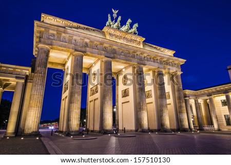 Brandenburg Gate in Berlin, Germany.Brandenburg Gate in Berlin, Germany. - stock photo