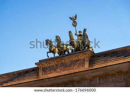 Brandenburger Tor - Berlin/Germany - stock photo