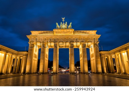 Brandenburger Tor in Berlin, Germany