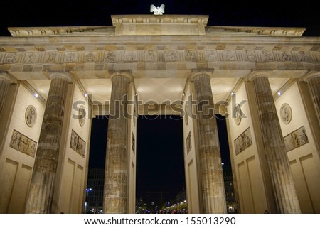 Brandenburger Tor in Berlin, Nightshot, Germany