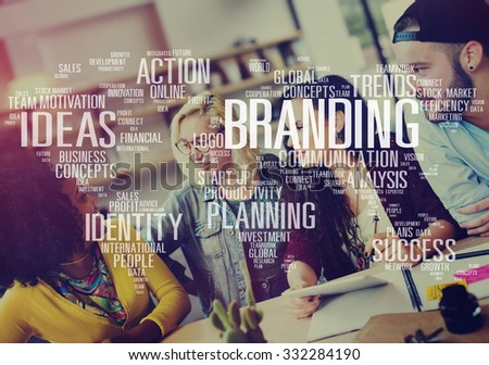 Branding Marketing Advertising Identity World Trademark Concept - stock photo