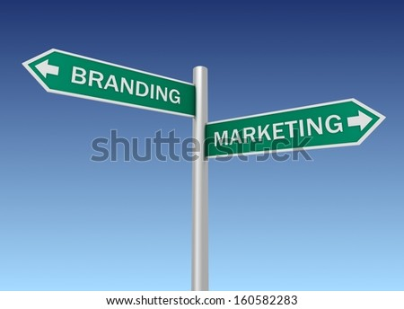 branding marketing sign