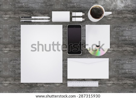 Branding mockup - stock photo