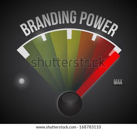 branding power speedometer illustration design over a black background - stock photo