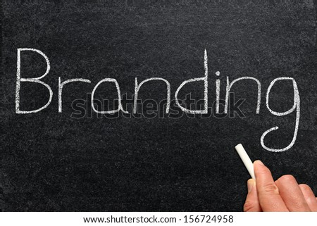 Branding, written on a blackboard.