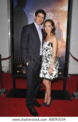 "Brandon Routh & wife Courtney Ford at the Los Angeles premier of ""The Lovely Bones"" at Grauman's Chinese Theatre, Hollywood. December 7, 2009  Los Angeles, CA Picture: Paul Smith / Featureflash"