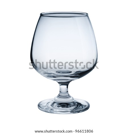 Brandy goblet isolated on white background