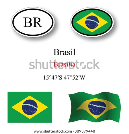 brasil icons set icons set against white background, abstract art illustration, image contains transparency