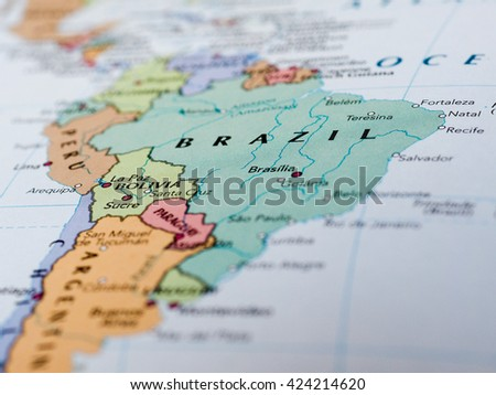 Brasilia brazil circa may 2016 map stock photo royalty free brasilia brazil circa may 2016 map of brazil with selective focus on name gumiabroncs Images