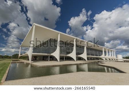 Brasilia, Brazil  - Planalto Palace  - stock photo