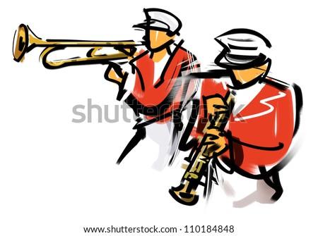 Brass band - stock photo
