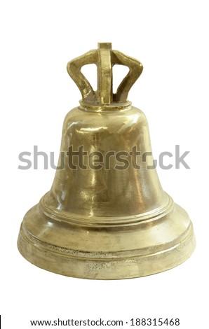 brass bell - stock photo