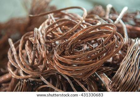 Brass Copper Wire Cables Used Recycling Stock Photo 431330683 ...