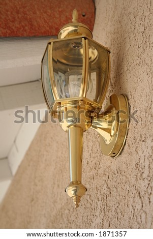 brass outside lantern