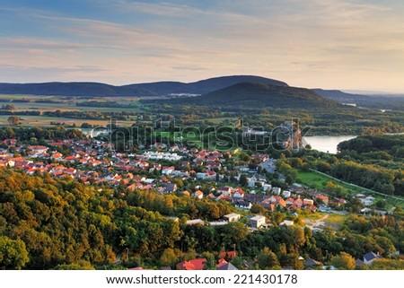 Bratilava with village Devin - Slovakia - stock photo