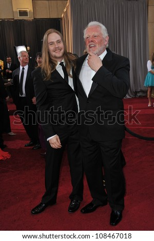 Brawley Nolte & Nick Nolte at the 84th Annual Academy Awards at the Hollywood & Highland Theatre, Hollywood. February 26, 2012  Los Angeles, CA Picture: Paul Smith / Featureflash