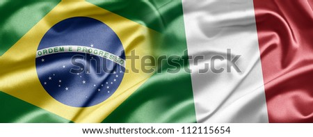 Brazil and Italy - stock photo