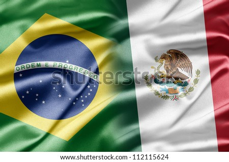 Brazil and Mexico - stock photo