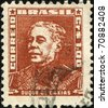 BRAZIL - CIRCA 1954 - 1963: A stamp printed in Brazil shows Duque de Caxias - Military leader and statesman, circa 1954 - 1963 - stock photo