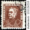 BRAZIL - CIRCA 1954: A stamp printed in Brazil shows shows Luis Alves de luma e Silva, Duke of Caxias (1803-1880), marshal, circa 1954 - stock photo