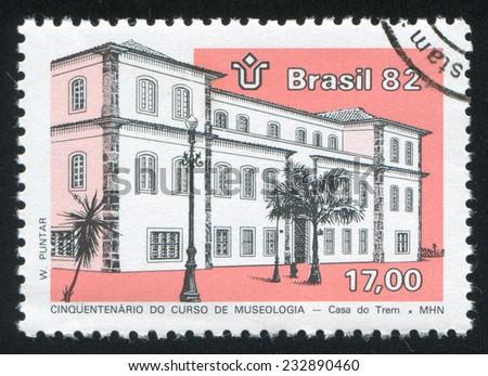 BRAZIL - CIRCA 1982: stamp printed by Brazil, shows  Historical Museum, circa 1982 - stock photo