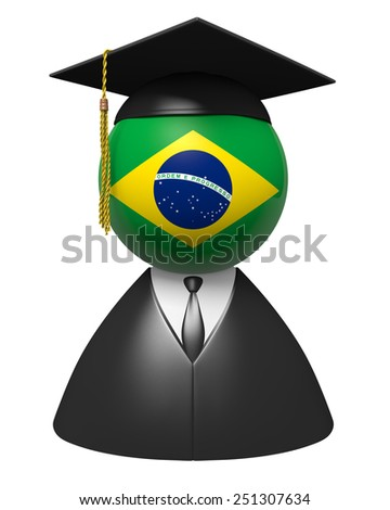 Brazil college graduate concept for schools and education - stock photo